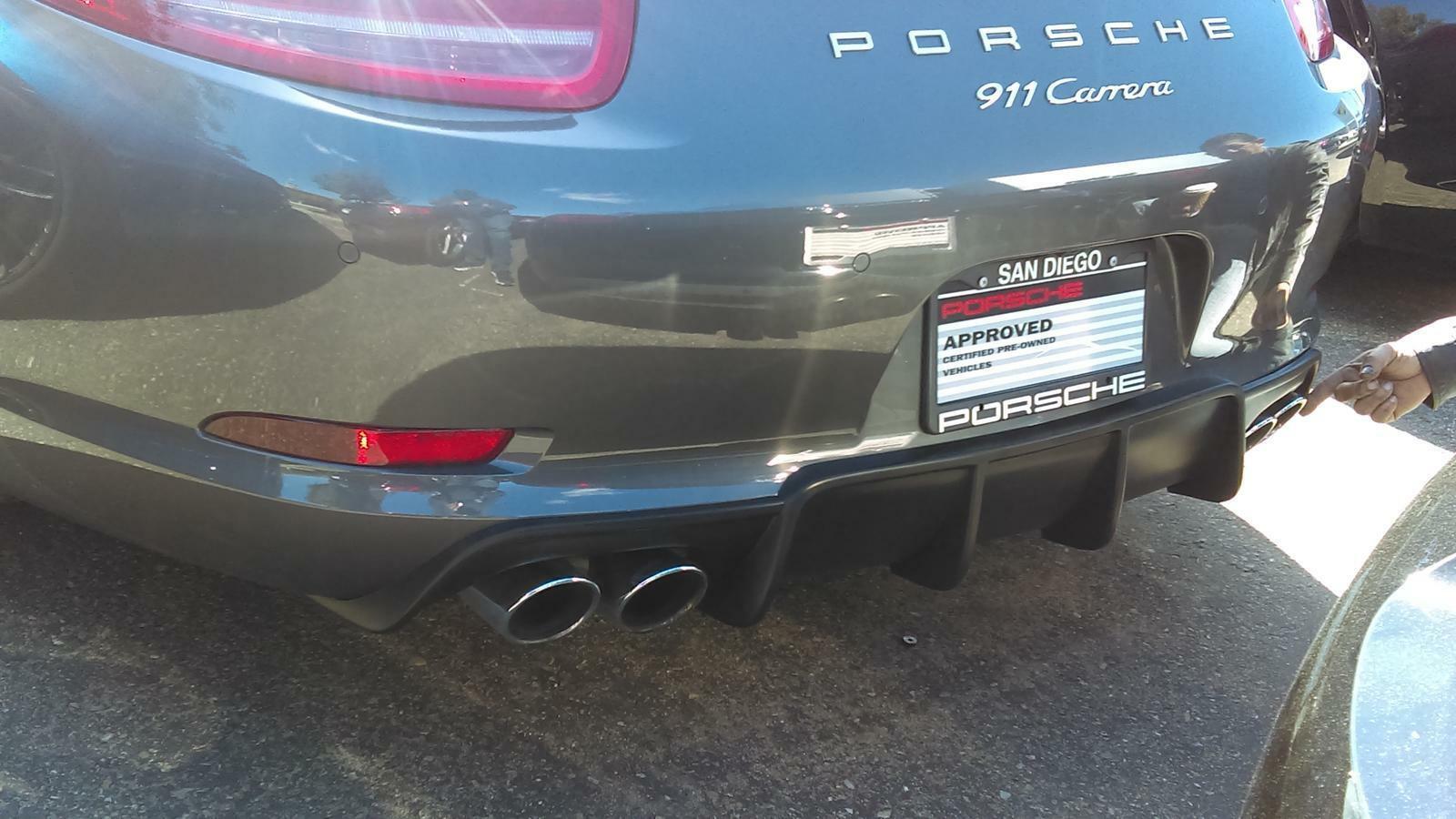 Porsche 991diffuser carrera polyurethane rear bumper diffuser ruf custom ta